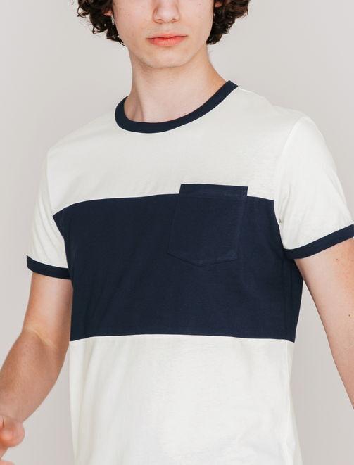 Tee shirt color-block bicolore homme