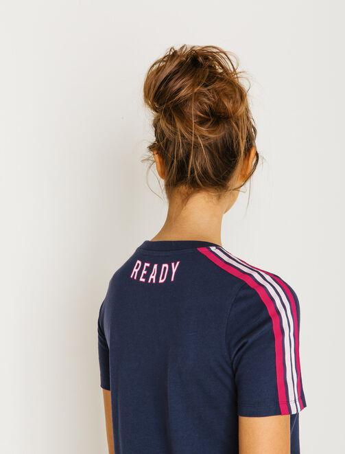 T-shirt bandes épaules femme