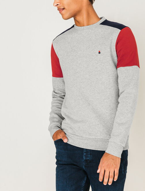 Sweat neo color-block homme
