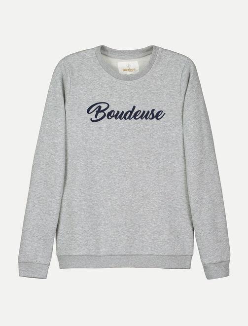 """Sweat message """"Boudeuse"""" femme"""