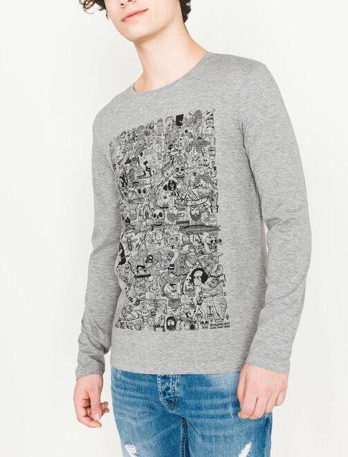 T-shirt multi dessin homme