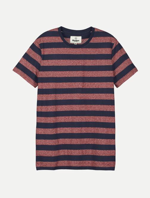 T-shirt rayé et poche poitrine homme