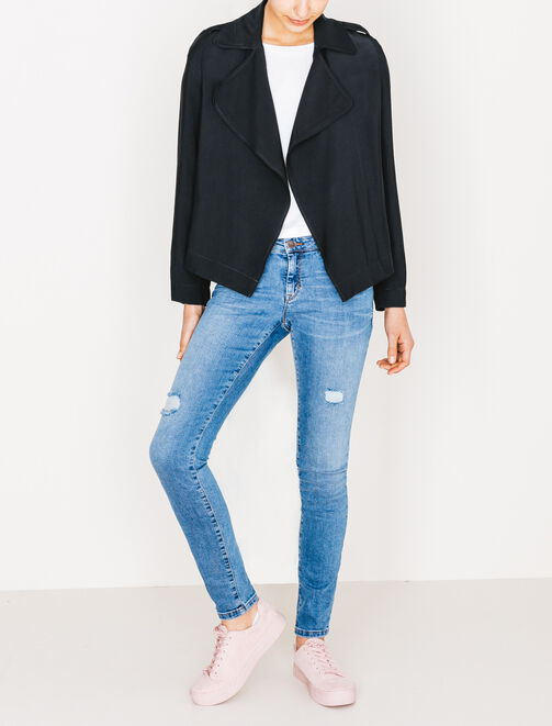 Trench fluide court  femme