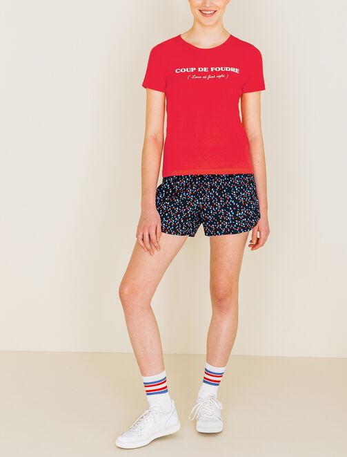 """Tee shirt imprimé """"Coup De Foudre"""" femme"""
