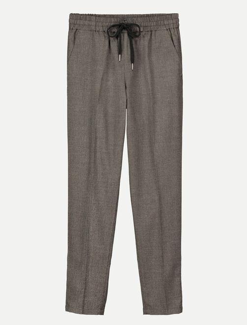 Pantalon city à carreaux femme