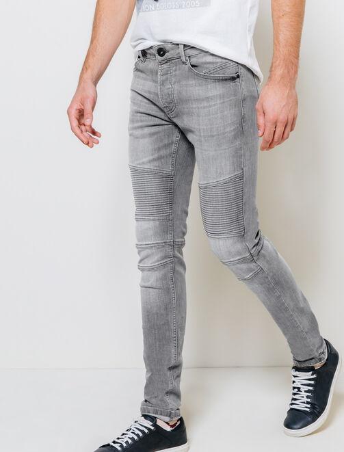 jeans homme jeans slim skinny ou regular bizzbee. Black Bedroom Furniture Sets. Home Design Ideas