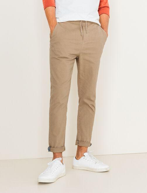 Pantalon taille élastiquée homme