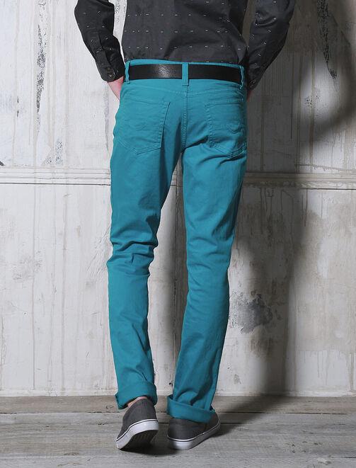 Pantalon 5 poches couleur homme