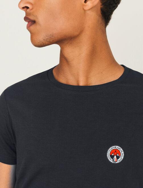T-shirt broderie poitrine homme