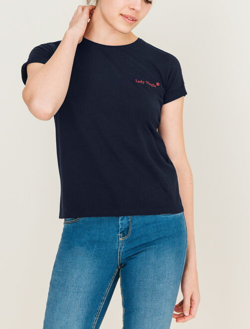 "T-shirt brodé ""LADY GLAGLA"" femme"