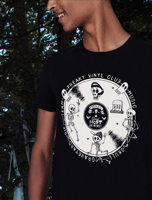 T-shirt Halloween vinyle  homme