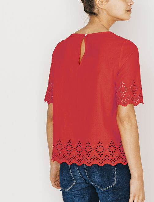 Top broderie anglaise. femme