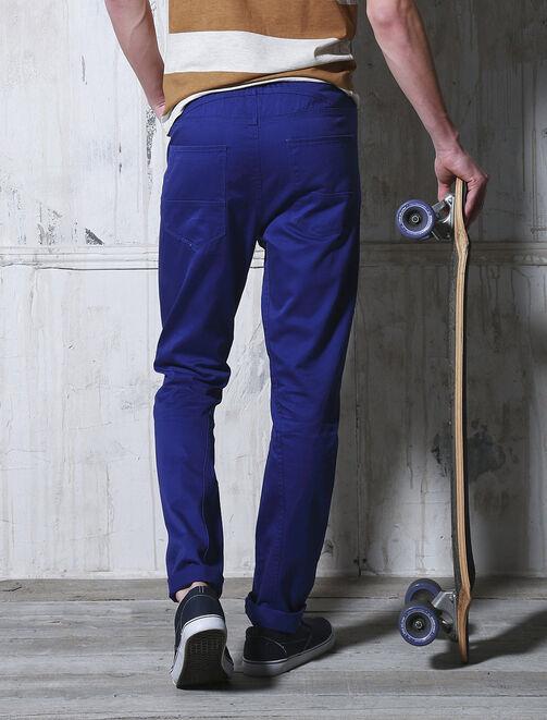 Pantalon slim forme carott homme