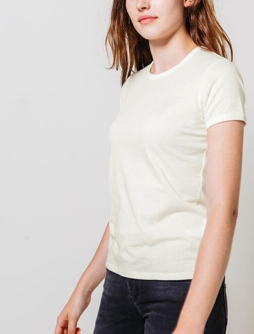 T-shirt manches courtes uni  femme