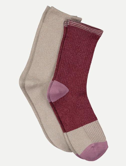 Chaussettes à paillettes femme