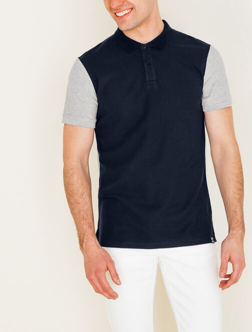 Polo color block homme