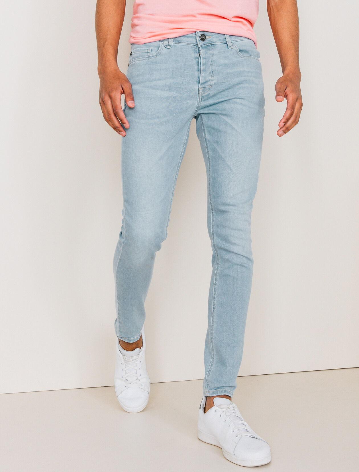 Jean skinny bleu clair homme