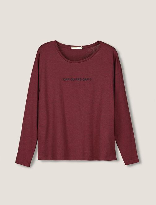 """T-Shirt manches longues """"Cap ou pas Cap ?"""" femme"""