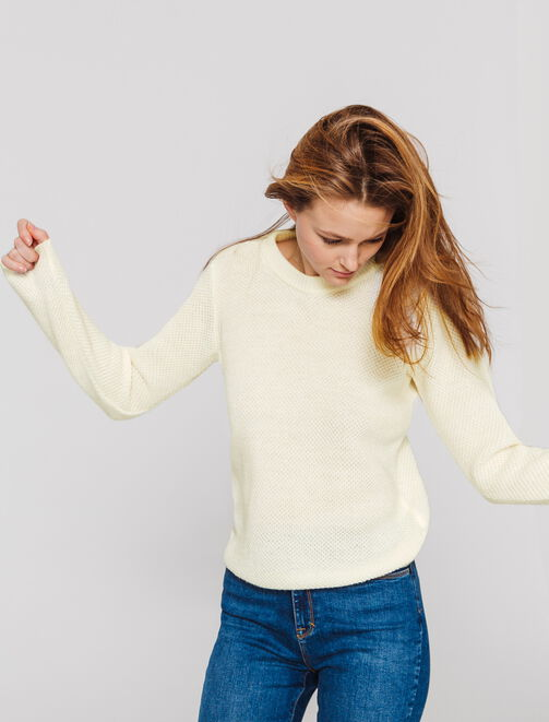 Pull Col rond uni femme