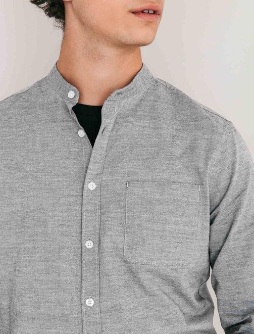 Chemise col mao avec poche. homme