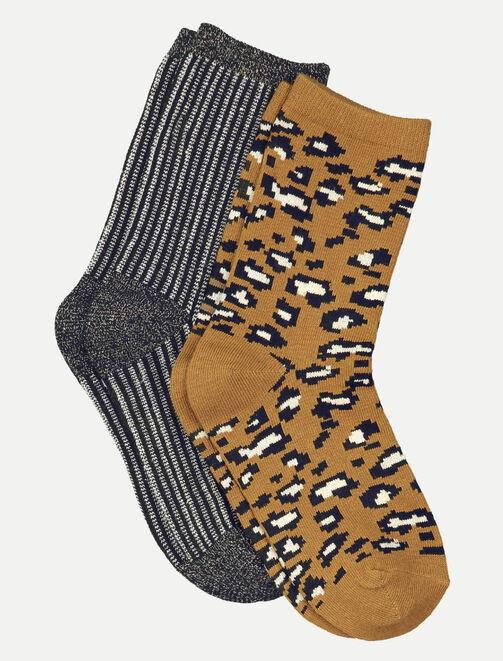 Lot de 2 chaussettes femme