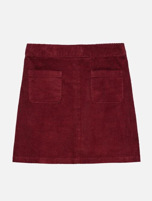 Jupe en velours avec poches femme