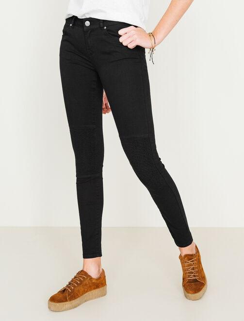 Pantalon skinny style biker femme