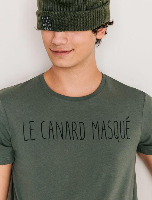 "T-shirt typo humour ""Le canard masqué"" homme"