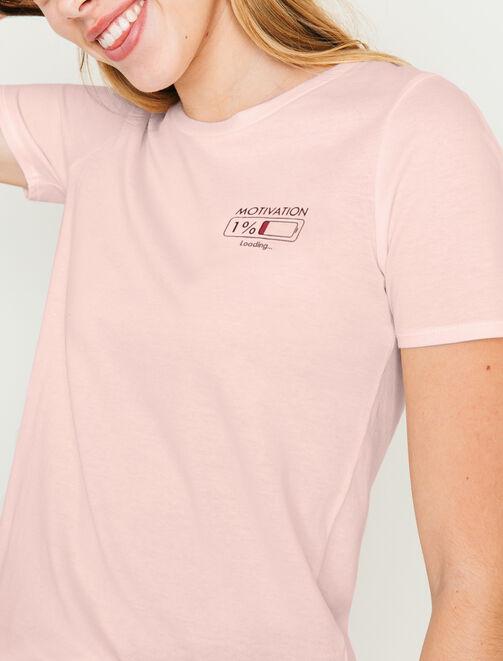 """T-shirt message """" Motivation..."""" femme"""