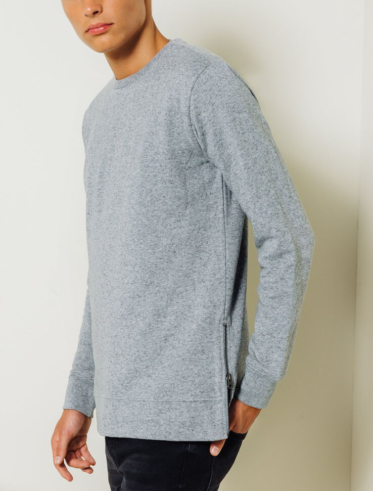 pull homme zippe cote
