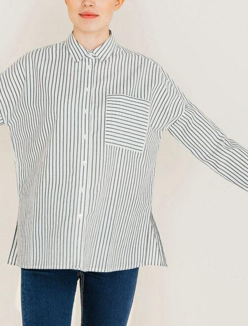Chemise rayée femme