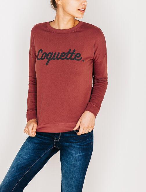 """Sweat sérigraphié """"Coquette"""" femme"""