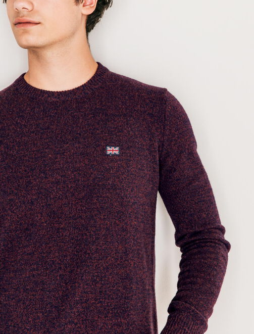 Pull col rond lambswool homme