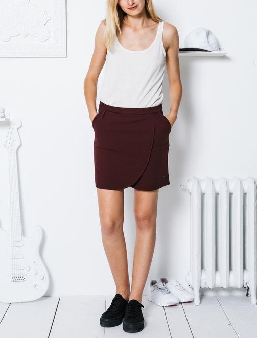 Jupe portefeuille asymétrique femme