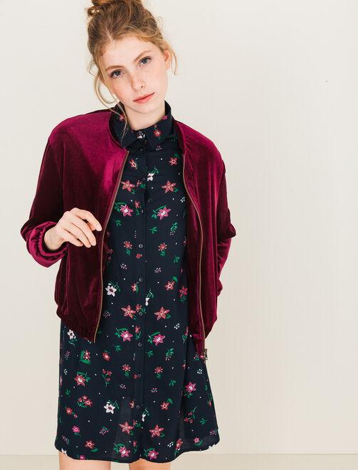 Robe imprimé fleurs femme