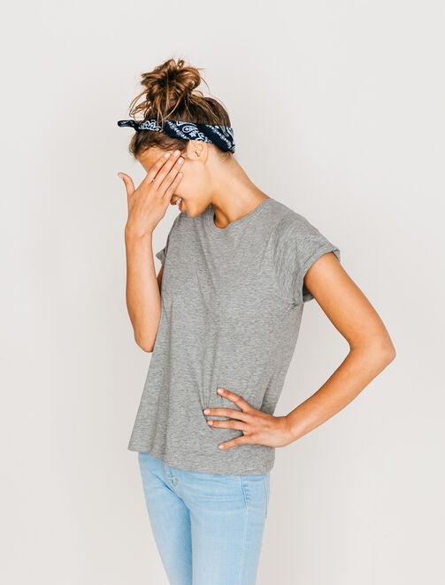 T-shirt col rond basique parfait femme