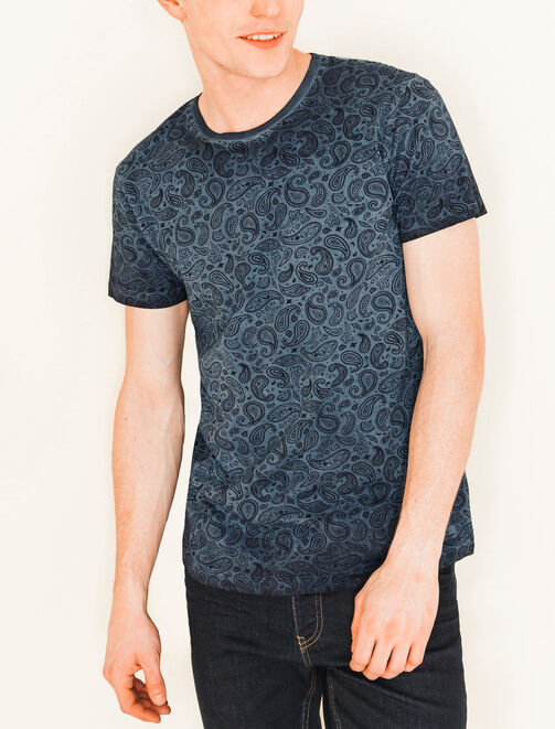 Tee shirt imprimé paisley homme