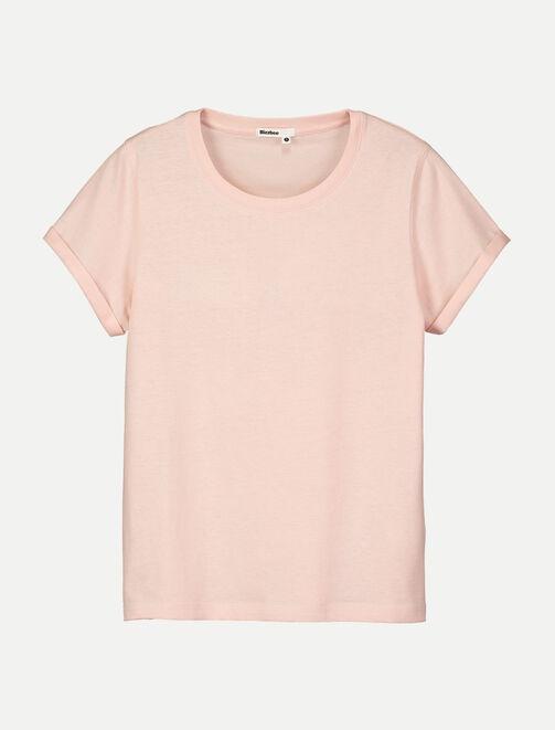 T-shirt col rond uni femme