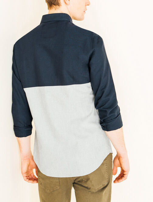 Chemise colorblock oxford homme