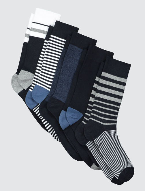 Chaussettes rayées homme