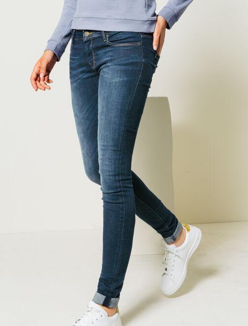 Jean Skinny taille standard stone foncé femme