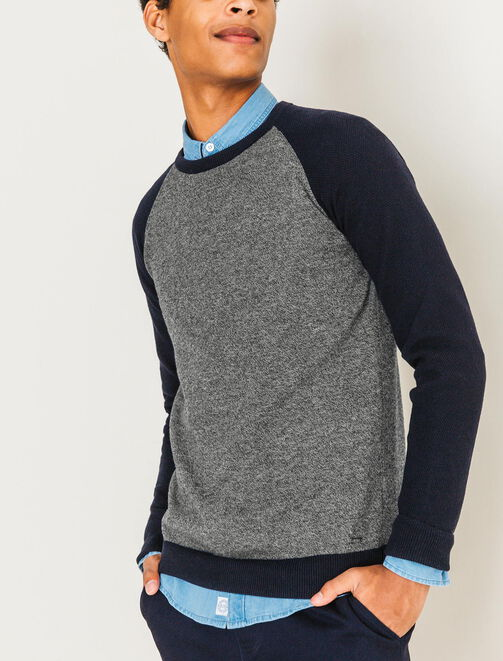 Pull manches raglan homme