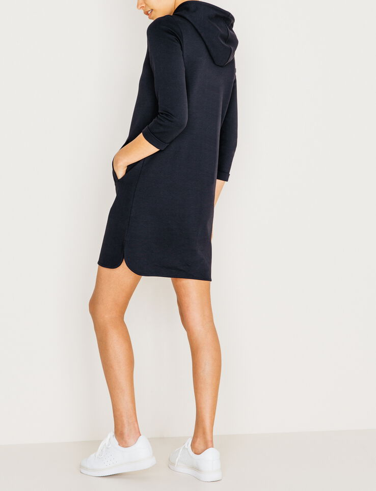 robe sweat capuche femme bleu marine bizzbee. Black Bedroom Furniture Sets. Home Design Ideas