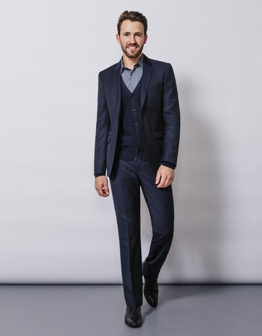 Costume bleu laine premium