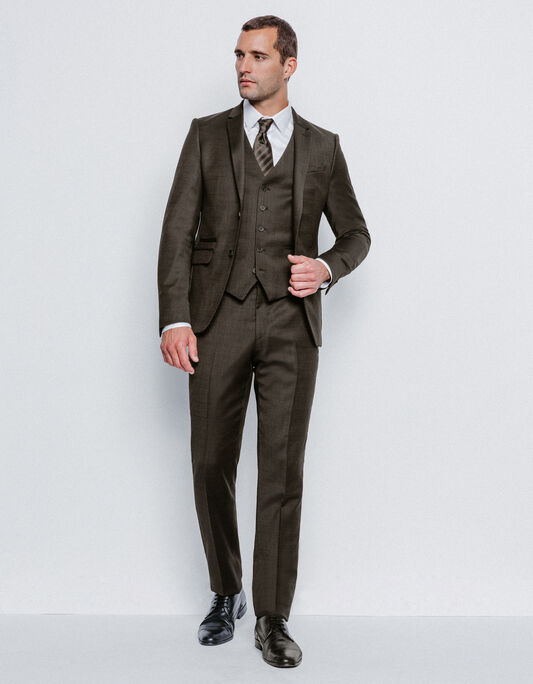 Costume homme slim marron