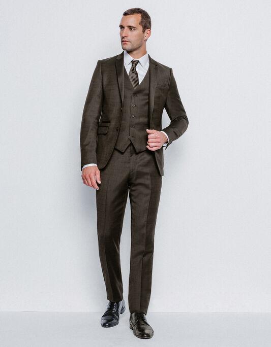 Costume homme slim marron