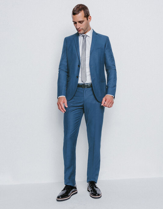 Costume homme slim bleu vif