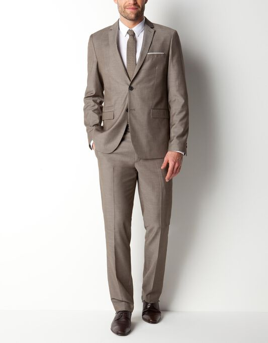 Costume taupe coupe regular