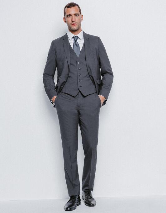 Costume homme veste costume pantalon costume brice for Que porter avec du gris