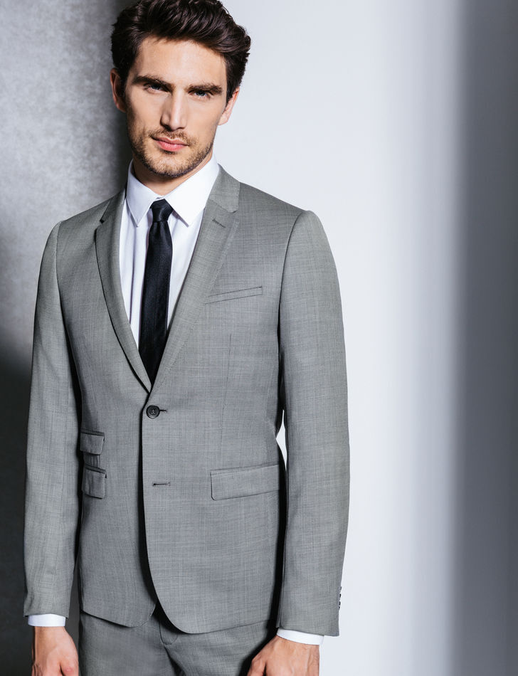 costume homme 100 laine gris clair homme brice fr. Black Bedroom Furniture Sets. Home Design Ideas